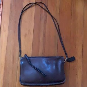 COACH Vintage Brown Leather Crossbody/Shoulder Bag